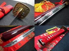 battle ready 9260 spring steel katana sword warrior tsuba sharp blade full tang