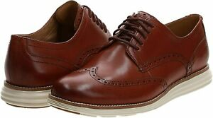 Cole Haan Original Grand Shortwing Men's Oxford Shoes Brown/Ivory 11 1/2