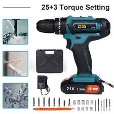 21V Cordless Electric Hammer Drill 3/8