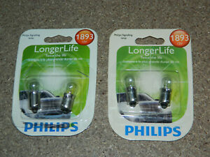 (2) NEW PACKS OF 2 PHILIPS LONGER LIFE 1893 MULTI PURPOSE LIGHT BULBS 1893LLB2