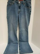 Levis 517 Womens Ladies Size 9Jr-M Boot Cut Slim Stretch Denim Blue Jeans