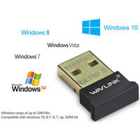 Wavlink USB Bluetooth 4.0 Adapter Dongle For PC Laptop Win XP Vista7/ 8/10