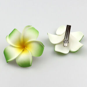 20-50Pcs Foam Hawaiian Plumeria flower hairpin Frangipani Flower Hair Clip 5-9cm