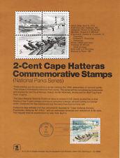 #7202 2c Cape Hatteras Stamps #1448-1451 Souvenir Page w/Parsons Watermark