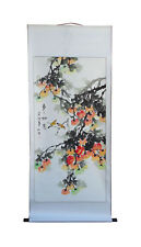 Chinese Hand Painted Fortune Persimmons Scenery Hanging Scroll / Wall Decor f286