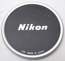 * NIKON 72MM METAL SCREW IN LENS CAP  -  JAPAN