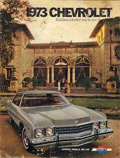 Chevrolet Bel Air Impala Caprice 1973 USA Market Sales Brochure
