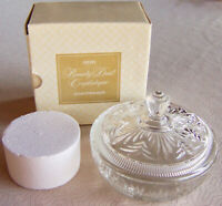 """Vintage 1971 Avon """"BEAUTY DUST CRYSTALIQUE"""" Talc Container for Avon Refills NEW!"""
