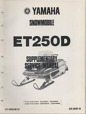 1980 YAMAHA SNOWMOBILE ET250D LIT-12618-00-22 SUPPLEMENT SERVICE MANUAL (501)