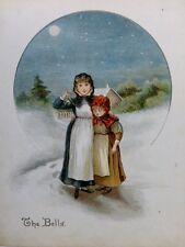 """1896 imprimir """"pequeño Merry Makers"""" Constanza Haslewood-Las Campanas-Navidad"""