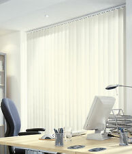 MADE TO MEASURE PLAIN CREAM BLACKOUT VERTICAL BLIND FAST FACTORY DIRECT SERVICE*