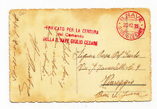 K951-R.NAVE GIULIO CESARE-CARTOLINA 1915