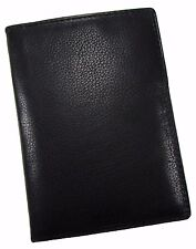 New Paul & Taylor Men's Leather RFID Protected Passport Holder Wallet