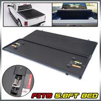Hard Tri Fold Tonneau Cover Fits For 14-18 Silverado Sierra 5.8ft Short bed