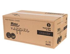 Mater Nappies Crawler size 3, 6-11kg Australian Made, carton 120 nappies