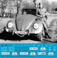 Peddinghaus 1/16 VW Kafer Beetle Typ 60 KdF-Wagen German Car WWII Markings 3459