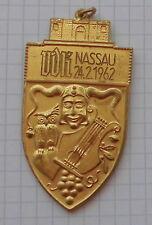alter fasching fastnacht karneval orden anhänger metall VDK nassau 24.2. 1962