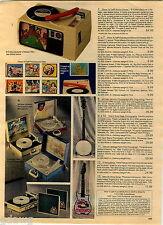 1984 ADVERT Toy Menudo Guitar Michael Jackson Record Player Phonograph