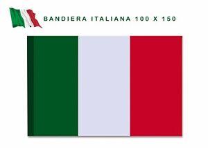 Bandiera italiana Bandiera Italia tricolore 100X150 con asola per asta NAZIONALE