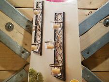 Wall Sconce set Tealight Black Wrought Iron Better Homes & Gardens - Swanky Barn