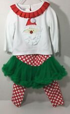 Mud Pie Santa 2-Piece Outfit Polkadots Christmas Baby Size 0-6 Months