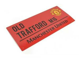 Manchester United FC  - Old Trafford Red Street Sign