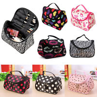 Womens Cosmetic Make Up Travel Toiletry Tote Bag Portable Case Organizer Handbag