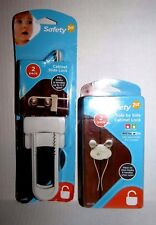 New Safety 1st Side by Side and Slide Cabinet Locks - 2 Packs Each - White