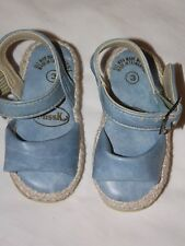 "MissK  Marble Blue Open Toe Ankle Strap Size 3 Baby Girl's 1 in"" Heel Sandals."
