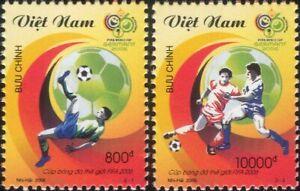 Vietnam 2006 Football World Cup Championships/WC/Soccer/Sports 2v set (n16258a)