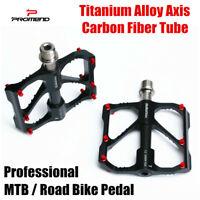 MTB Road Bike Pedal Ultralight Carbon Titanium Bicycle Pedal Pedal 3 Bearings