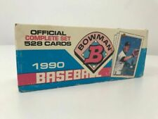 1990 Bowman Baseball Factory Official Complete Set 528 Cards