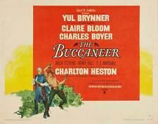 THE BUCCANEER Movie POSTER 22x28 Half Sheet Yul Brynner Charlton Heston Claire