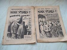 2 Editions Of The Child's Comic HANDY STORIES - August 12th & September 1922