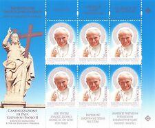 2014 Canonizzazione del Papa Giovanni Paolo II - Polonia - minifoglio