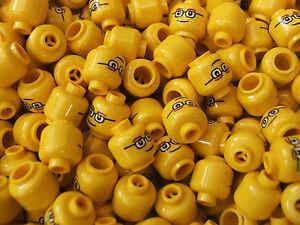 15 New Lego Mini figure Heads mini figs crafts jewellery resale glasses eyebrow