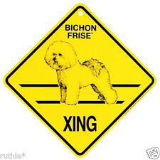 Bichon Frise Dog Crossing Xing Sign New Made in USA