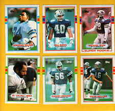 1989 Topps Dallas Cowboys Set MICHAEL IRVIN NATE NEWTON BILL BATES ED JONES