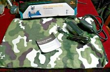 """New Petactor Pet Heating Pad In a Camouflage Fabric  22""""l by 14 1/2"""" w IOB"""