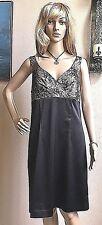NEW Women's ALLEN B. Black Satin & Lace Elegant Dress ~ Size 12