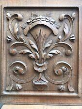 Lot Belle Paire Tableau Panneau Bois  XIXe Sculpté Sculpture Decoration