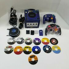 Nintendo GameCube Console Pokemon skin Bundle With 13 Games 2 Controllers tested