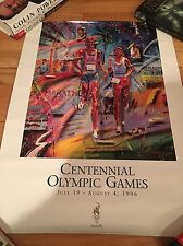 1996 OLYMPIC POSTER CENTENNIAL OLYMPICS - RUNNERS BEAUTIFUL new in tube OLYMPICS