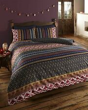 Luxury Indian Ethnic Print Double Bed Duvet Quilt Cover Bedding Set Orkney Multi