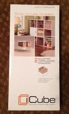 iCube 2 Quarter Corrugated Set Of 2 Drawers CU610 New NIP Free USA Shipping.