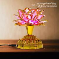 US Plug Worship Buddha Lotus Lamp Buddhist Lights Temple Shrine Accessories NEW