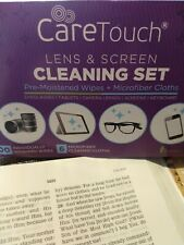 Care Touch Lens Cleaning Wipes Microfiber Cloths - Glasses tablets cameras keybo
