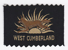SCOUTS OF BRITISH / UNITED KINGDOM - UK SCOUT WEST CUMBERLAND COUNTY BADGE EXT++