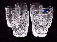 Set of 6 Russian Cut Crystal Shot Glasses 1.7 oz - Soviet / USSR Vodka Glassware