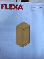 FLEXA CABINET WITH SHELF  WHITE, #7474114 NIB!